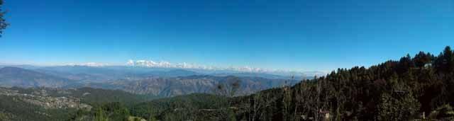 Panoramic view of Himalayan Ranges
