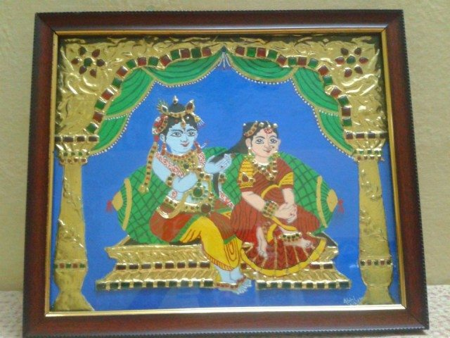 Tanjore painting (This one I made)