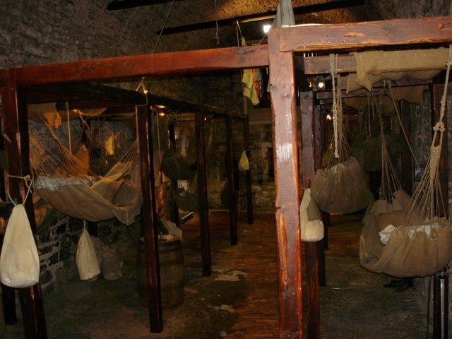 Living quarters of Prisoners of War