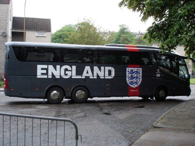The English Football Team Bus!