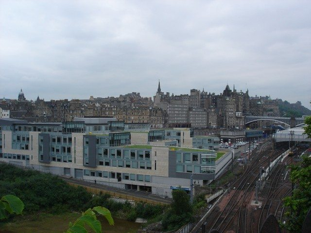 Edinburgh from base of Regent's Terrace