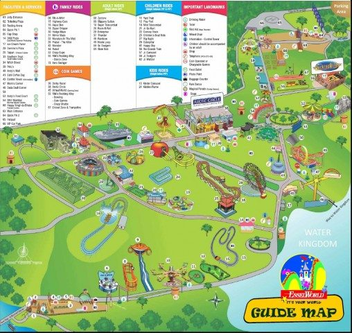 Essel World Guide Map
