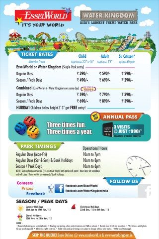 Entry ticket rates