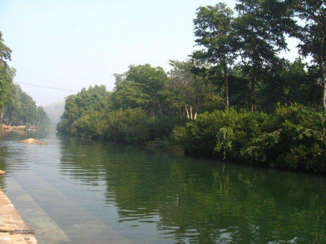 Chitrakoot Dham : River Mandakini at Sati Anusuya Ashram, मन्दाकिनी नदी