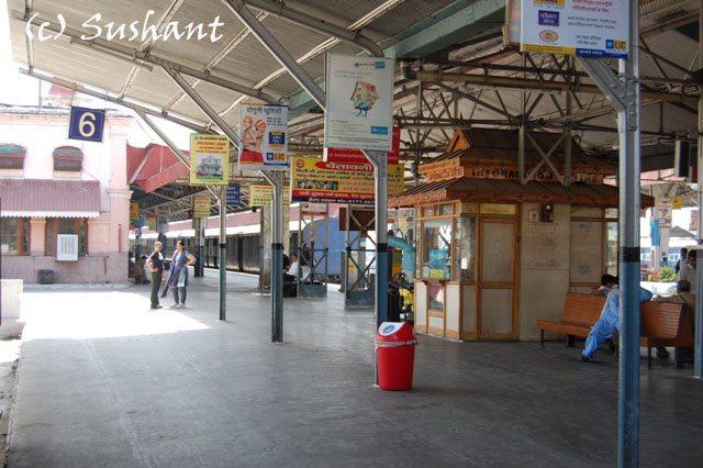 Deserted look of the Kalka Railway Station