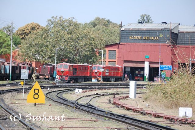 Narrow Guage Loco Shed at Kalka Station