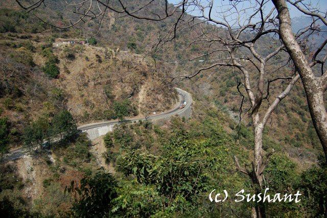 Kalka Shimla NH runs almost side by side with railway.