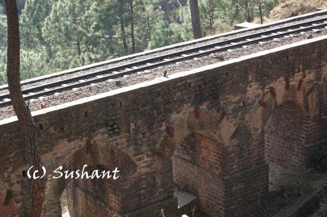 viaduct bridge on Kalka Shimla route
