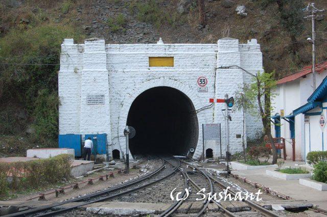 Longest tunnel at Barog : Kalka Shimla Railway