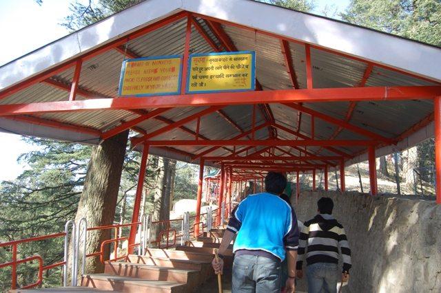 Beware of monkeys!  Entrance to Jakhu Temple, Shimla