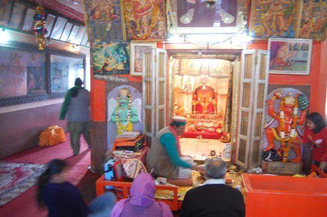"""Jakhu temple - the picture came our shaky because of  """"Photography not allowed"""" notice board."""