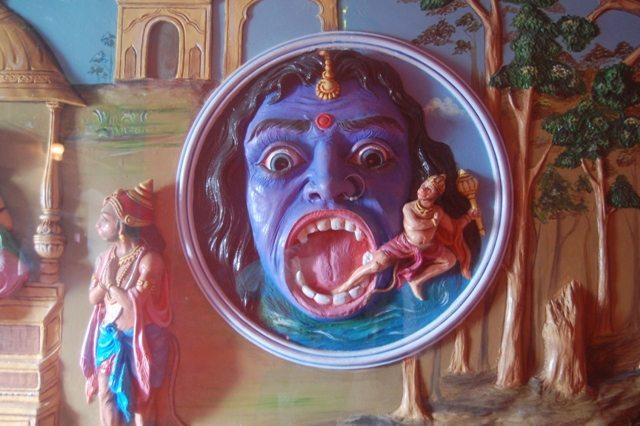 A snapshot from Lord Hanuman's life at Jakhu Temple, Shimla