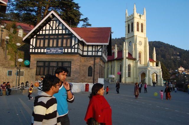 Innumerable pictures have been taken of this legendary Ridge at Shimla.