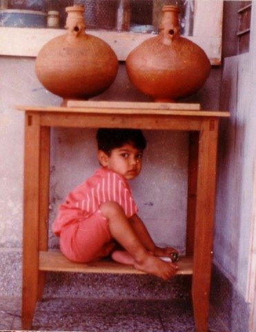 Akshat used to sit in unusual places.