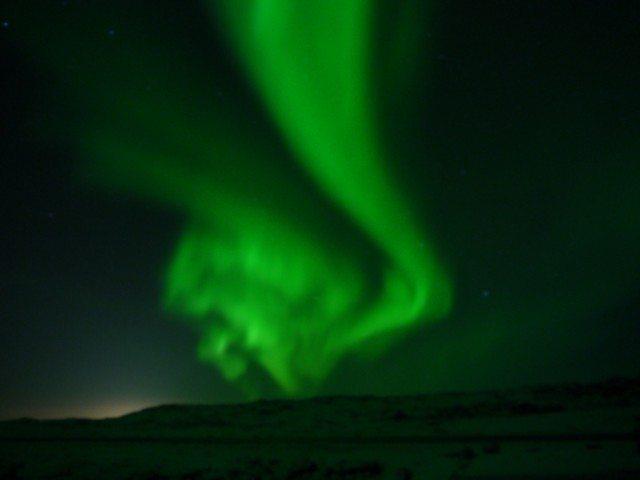 Norther Lights seen near airport