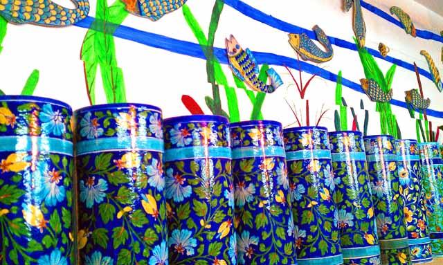 Blue Pottery Pots