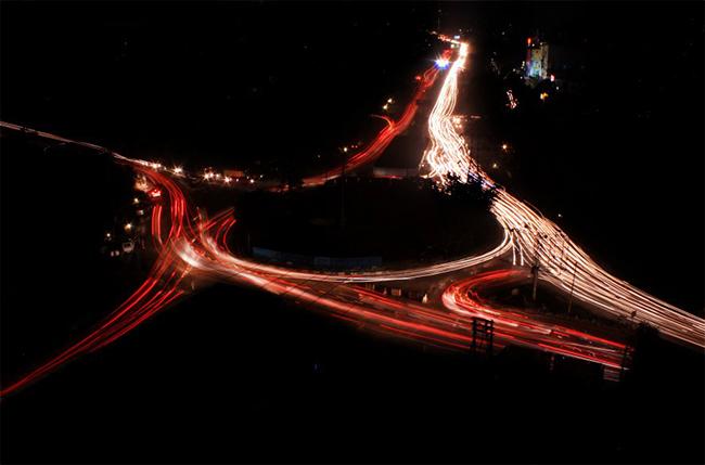 Gurgaon at night