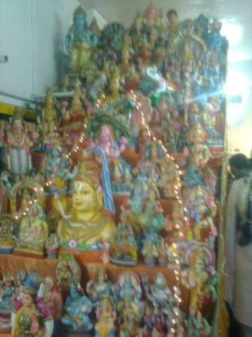 Kolu inside temple