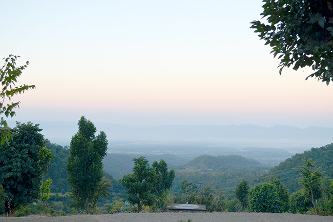 Early winter morning in the hills