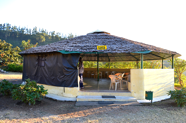 One of the huts, named as 'Ganga'