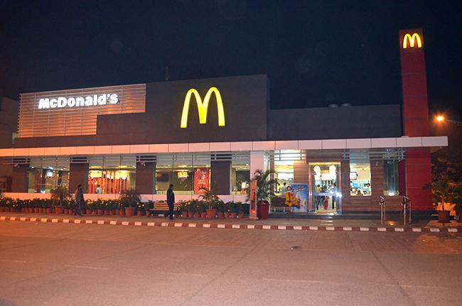 Stopped at McDonalds for dinner
