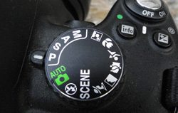M=Manual, A=Aperture priority, S=Shutter Priority & P=Programmed auto