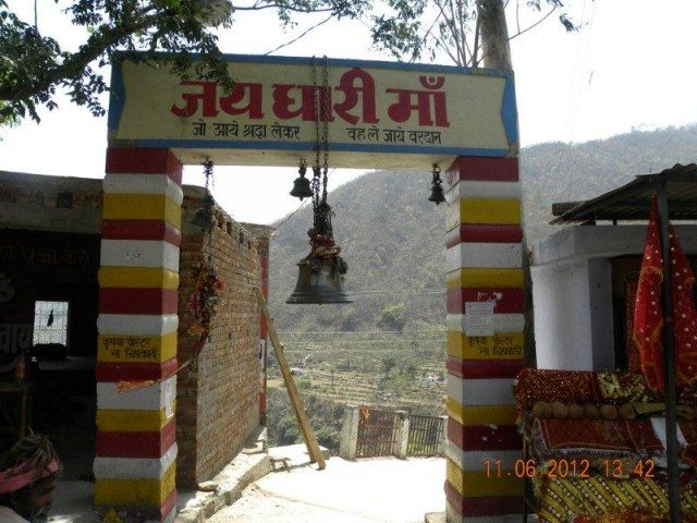 Dhari devi temple on the way