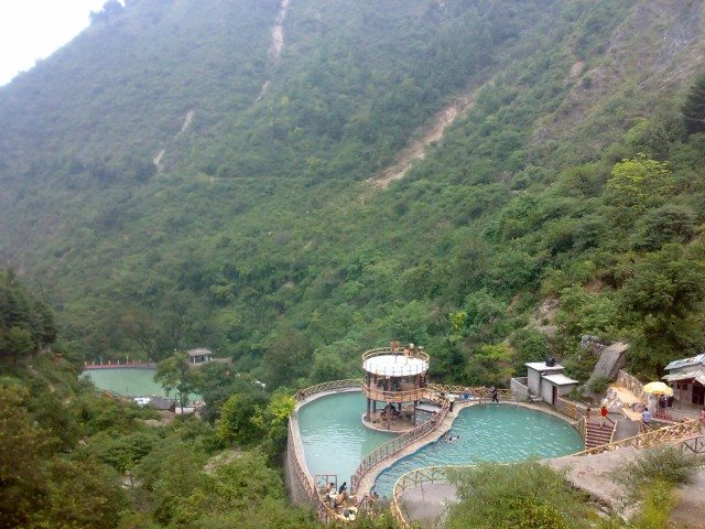 View of resort from Kempty waterfall
