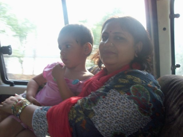 Pavani and her Mummy on the way