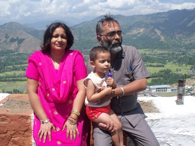 Yours truly with wife and Pavani