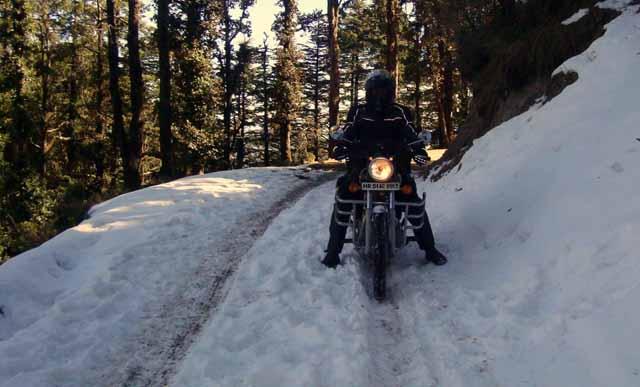Paahji negotiating a massive snow cover