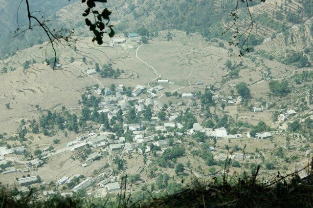 A view of Sari village from the top
