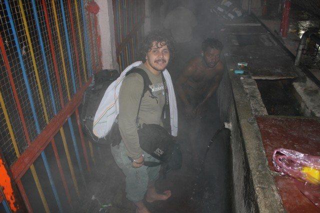 Vishal at tapt kund - No wonder people think he is a firangi