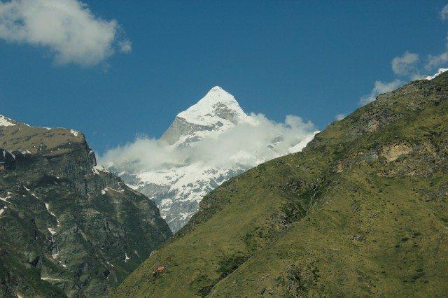 First view of Badri parbat