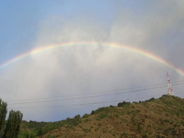 Rainbow welcoming us to the valley