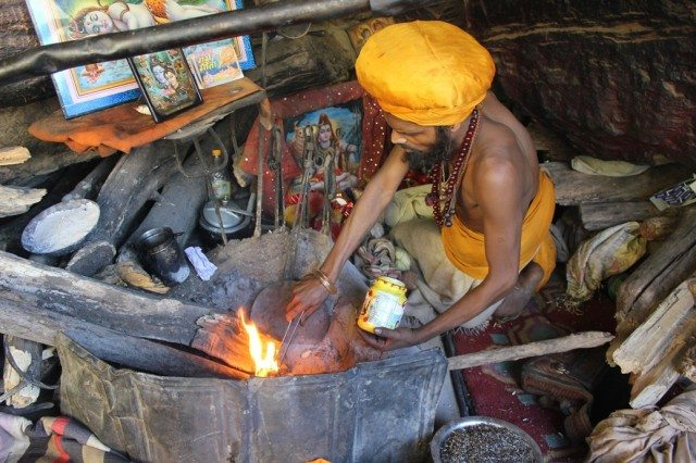 Naga Baba Barfani Das at Bheem Pul