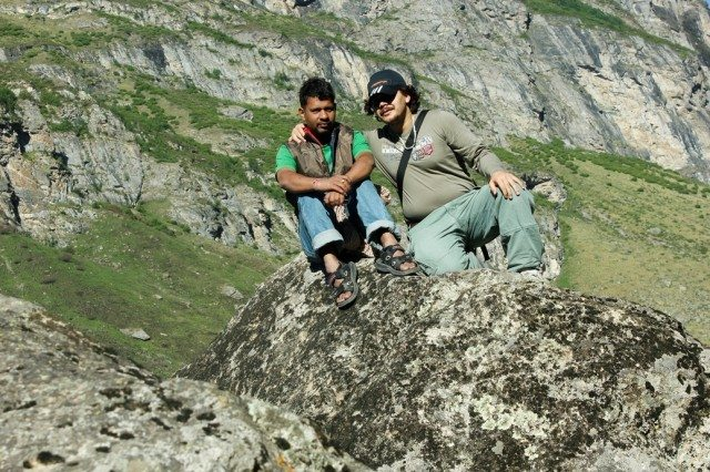 Duo after crossing Bheem Pul