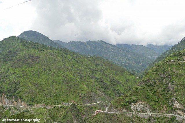 Amazing route through the mountains