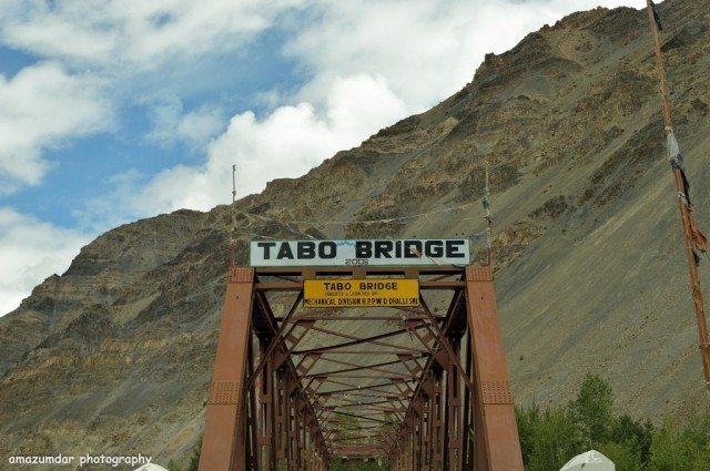 Bridge - Entrance to Tabo from Nako
