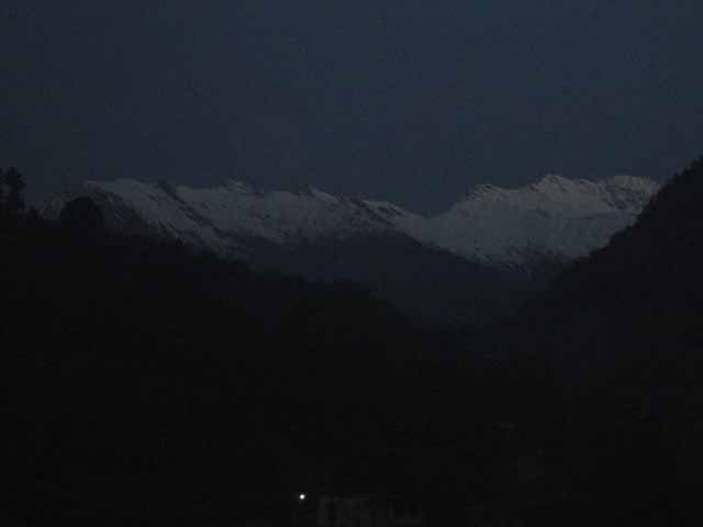 Early Morning View of the peaks