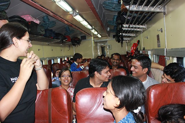 Masti in the train