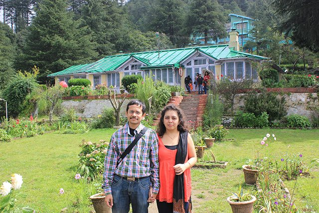 Jim Corbett bungalow as the backdrop
