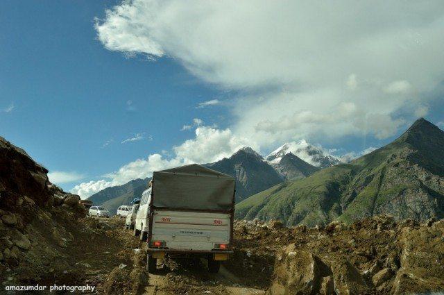Landslide at Rohtang