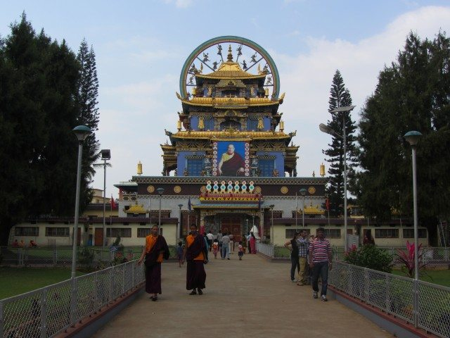 The first views as we enter the Namdroling Monastery