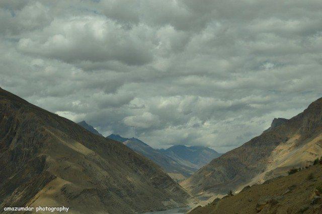 On the way to Dhankar Monastery