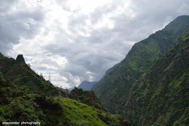 Panaromic Clouded Himalayan Peaks