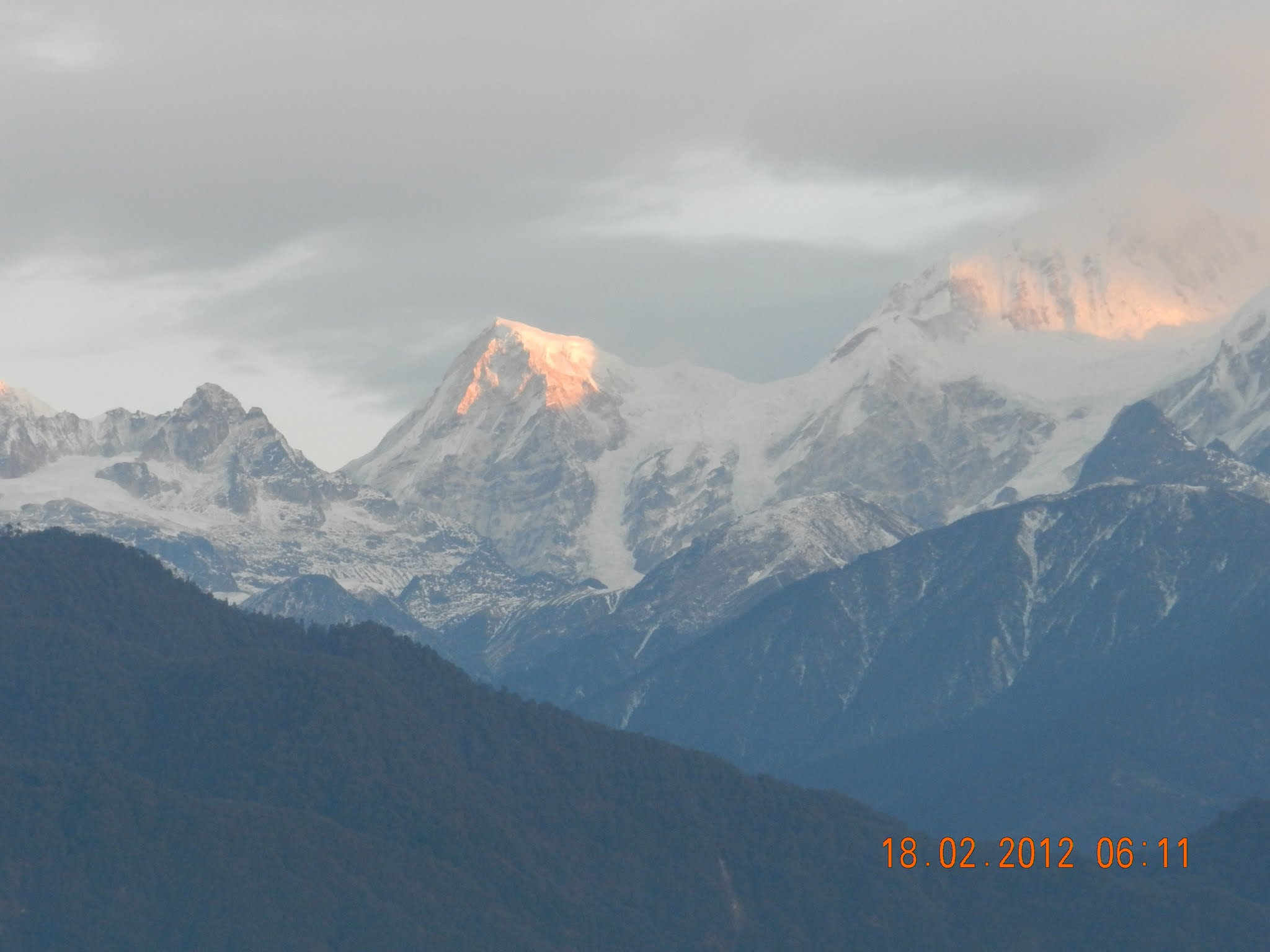 View of Kanchenjunga at Sunrise from Pelling