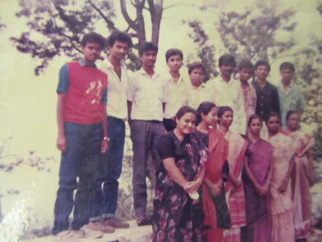 1988 - Schoolmates. 3rd from Left is Venkat