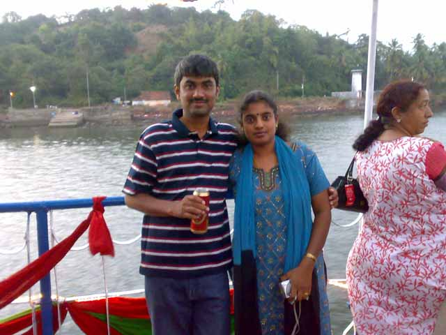 At Mandovi River Cruise