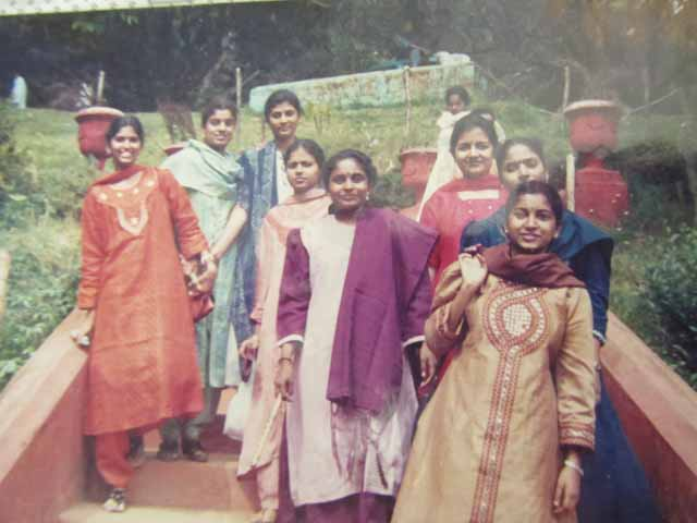 Shanthi during her college days
